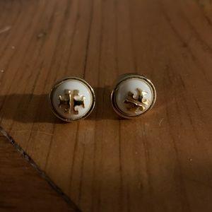 Tory Burch logo earring